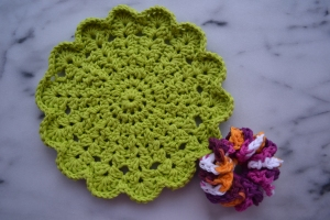 flower cloth and scrubby